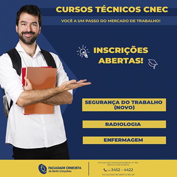 UNICNEC abre inscrições para os Cursos Técnicos