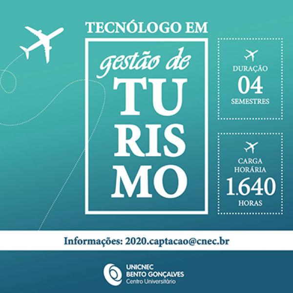 Curso de Tecnólogo em Gestão de Turismo é lançado pela UNICNEC Bento