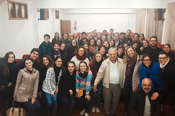 Pedrinho Guareschi participou da aula inaugural do curso de Psicologia
