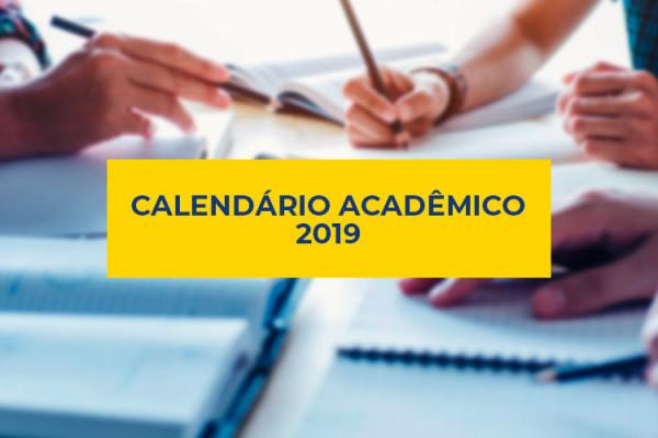 Calendário Acadêmico do Ensino Superior 2º Semestre Letivo de 2019