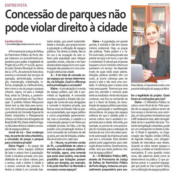 Coordenadora do curso de Direto da Faculdade CNEC Gravataí concedeu entrevista ao Jornal do Comércio