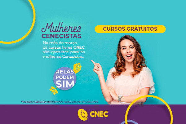 No mês da mulher, CNEC oferece mais de 30 cursos online gratuitos