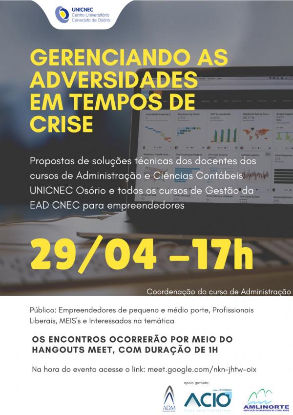 UNICNEC Osório lança projeto visando reduzir os impactos da crise econômica