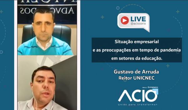 Reitor da UNICNEC participa de LIve a convite da ACIO