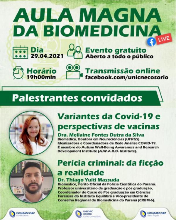 Aula Magna - Curso de Biomedicina