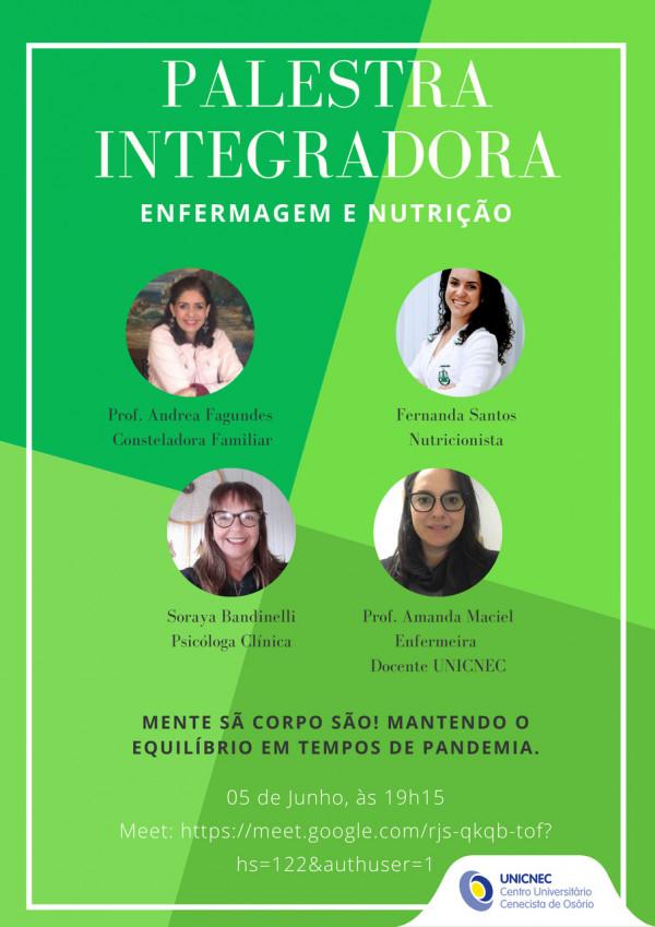 Palestra Integradora - Cursos de Enfermagem e Nutrição