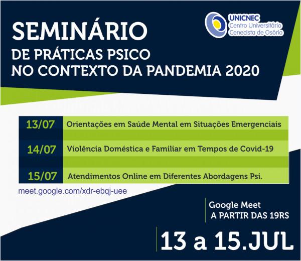 Seminário de Práticas PSICO no Contexto da Pandemia