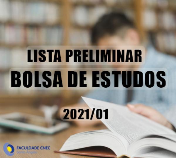 Lista de seleção Bolsas CNEC e PROUNI - 2021.01