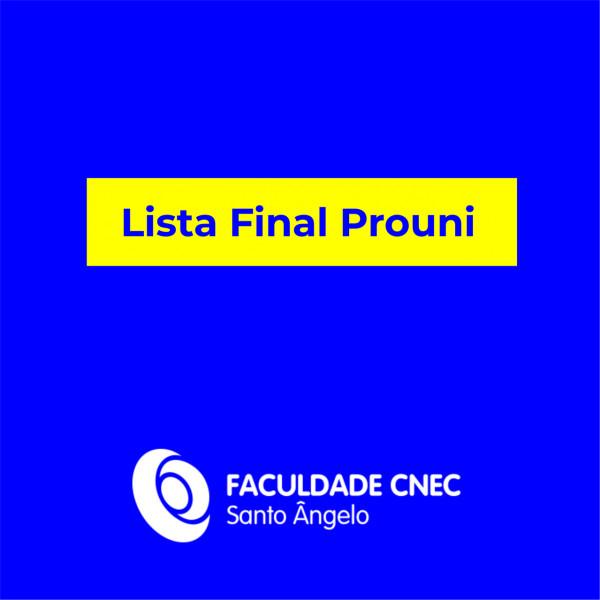 Lista final Prouni