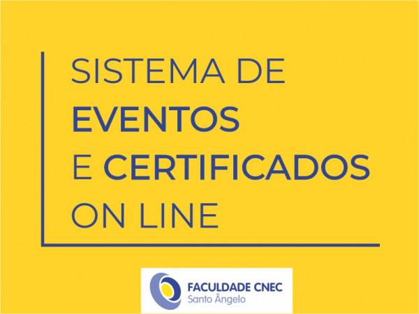 Sistema de Inscrições em Eventos e Certificados on line