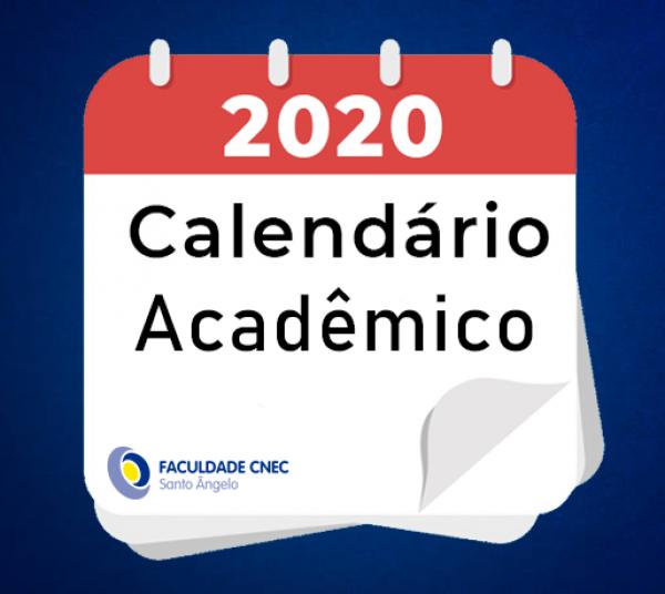 Calendário Acadêmico 2020-1