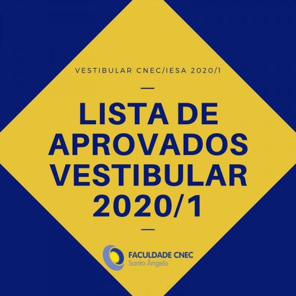 Lista de aprovados no vestibular 2020/1
