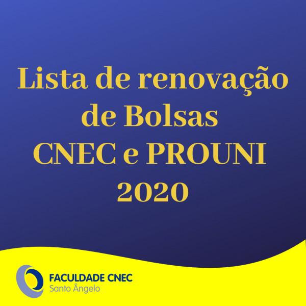 Bolsa CNEC 2020 - Lista final