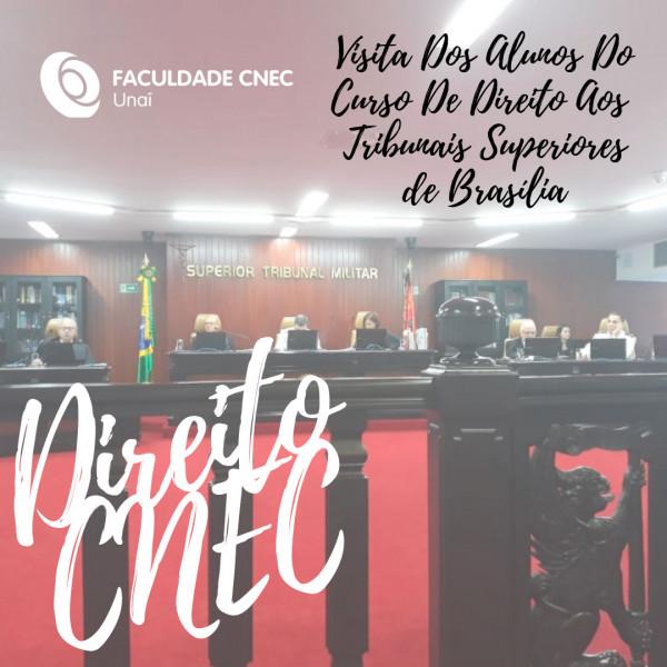 Alunos do Curso de Direito visitam os Tribunais Superiores em Brasília/DF