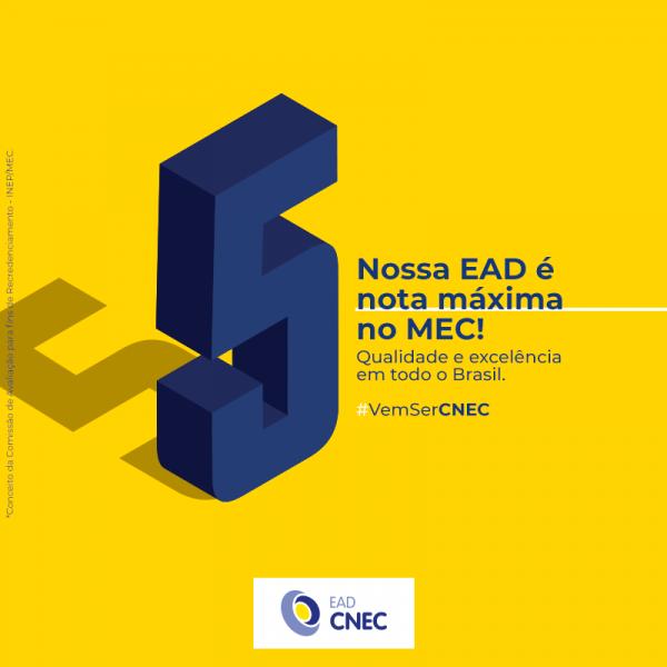 EAD CNEC é recredenciada com nota máxima do MEC